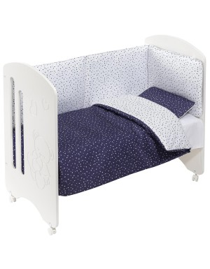 Lettino Completo Lovely - Stelle Blu